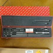 Starrett 124dz 2 To 32 Sae Mechanical Solid-rod Inside Micrometer In Wood Case