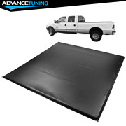 Fits 99-18 Ford F250-f450 Super Duty 6.5' Ft Truck Bed 4 Fold Led Tonneau Cover