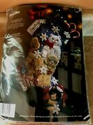 Bucilla Christmas Kitties 18 Felt Holiday Stocking Kit 86060 Factory Sealed