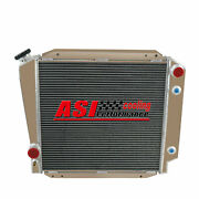 4 Rows Aluminum Radiator For 1966-1977 Ford Early Bronco 5.0l 302 V8 76 75 74 73