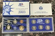 2003-s United States 10 Coin Proof Set Us Mint Ogp And Coa Nice Collector Item