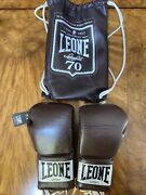 Leone 1947 Anniversary Leather Boxing Gloves Brown