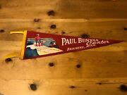 Paul Bunyan Center Brainerd Minnesota Felt Pennant Late 50and039s Or Early 60and039s