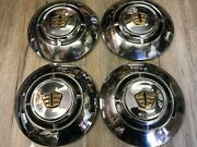 1955 55 Dodge Nos Genuine Mopar Rare Dog Dish Hub Cap Set