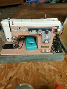 Heavy Duty All Metal Super Deluxe Zig Zag Sewing Machine 120v 1.3a Made In Japan