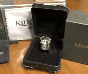 4.7 Oz.  1/4 Pound Mitchell Binder Custom Made King Baby Mohican Ring Sz.12 .925