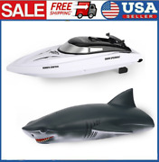 705 Rc Racing Boat 2.4g Remote Control Boat Waterproof Toys For Kids Gift X3m6