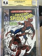 Amazing Spider-man 361 Ss Cgc 9.6 Signed 2x Lee And Bagley Rare