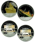 Rms Titanic Commemorative Color Set Coin Proof Lucky Money Value 275