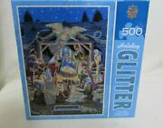 Master Pieces Holiday Glitter 500 Piece Puzzle Holy Night New