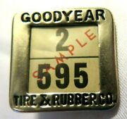 1920s Goodyear Pin Whitehead Hoag Advertising Sample Tire And Rubber Co. Name Tag