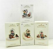 4 Hallmark Frosty Friends Ornaments 27,28,30,31 2006,2007,2009,2010 Boxed T69