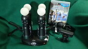 Sony Playstation Move 4x Motion+camera+charger Bundle Cech-zcm1u Ps3/ps4 Vr Lot