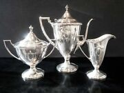 Antique Silverplate Tea Set Sheffield Reproduction By Forbes Silver Co