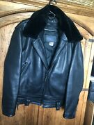 Leather Police Motorcycle Jacket - Heavyweight - Size 50 - Non-smoker Home