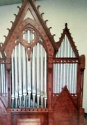 Antique Church Organ Casement Wooden Framework 20and039 Tall By 12and039 Wide C. 1890s