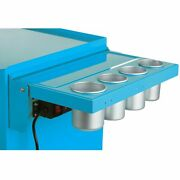 Viper Tool Storage 18g Steel Folding Side Shelf With Power Strip And Usb Teal