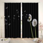 Dandelion Messenger Who Works Hard Printing 3d Blockout Curtains Fabric Window