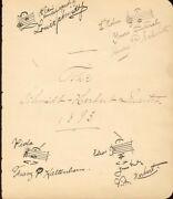 Victor Herbert - Autograph Musical Quotation Signed 1893 With Co-signers