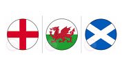 Euro 2020 England Scotland Wales Flag Round Stickers Sweet Cones Box Party