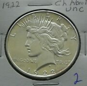 1922  Choice About Uncirculated  Peace Dollar 2