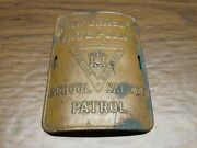 Njsp New Jersey State Police School Safety Patrol Arm Band Badge 3.5 Metal