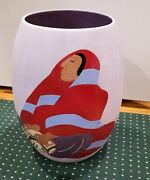 R.c. Gorman Pottery Jardinere Southwest Women Signed Numbered 18 Tall
