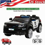 Cars Kids Toy Police Ride On Car 12v Electric 2.4g Remote Control Led Flashing