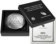 2011 P Vicksburg America The Beautiful Atb 5 Oz .999 Fine Silver Coin With Ogp