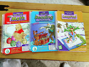 Lot Of 3 Leap Frog Leap Pad Pre-math And Reading Interactive Book