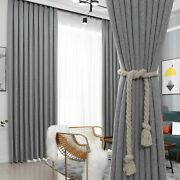 Blackout Curtains Window Treatment Drapes Finished Blinds Modern Home Decoration