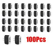 100pcs 3.1a Us Multi Port Usb Charger 3 Ports Adapter Travel Wall Ac Power Suppl