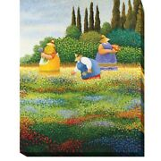 Spring Gathering By Lowell Herrero Gallery-wrapped Canvas