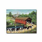 Cows In West Arlington By Lowell Herrero Gallery Wrapped 22 X 28