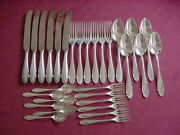 Wmf 2200 Six People 90 Silver Plated Table Cutlery+ Coffee+ Cake 30 Pieces