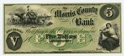 1800and039s 5 The Morris County Bank - Morristown New Jersey Note Au/unc