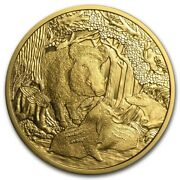 2014 Austria Gold Andeuro100 Wildlife In Our Sights Wild Boar Proof .5144 Oz. With Ogp