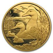 2018 Austria Gold Andeuro100 Wildlife In Our Sights The Mallard Proof .5144 Oz And Ogp