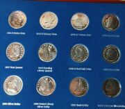 A Tribute To Americaand039s Greatest Silver Coins Set -12 Silver Plated Coins