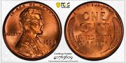 1958 1c Rd Lincoln Wheat One Cent Pcgs Ms66+rd      40763609