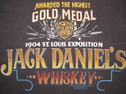 Vintage 1989 Jack Daniels Whiskey 1904 St. Louis Expo Gold Medal Ssi T-shirt S