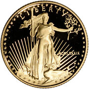 1989-p American Gold Eagle Proof 1/10 Oz 5 - Coin In Capsule