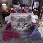 Cat Stay In The Nest 3d Print Duvet Quilt Doona Covers Pillow Case Bedding Sets