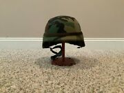U.s Army Helmet Compatible With Kevlar Size Large Helmet + Cover + Head Band