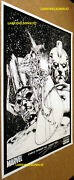 Silver Surfer Poster Hand Signed Danny Miki 11x17 Thick Galactus Norrin Radd Ff