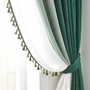 Chenille Curtains Full Blackout For Living Room Bedroom Modern Window Treatments