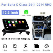 For Mercedes Benz C Class W204 2011-2014 Rhd 12.3 Android Car Gps Navigation