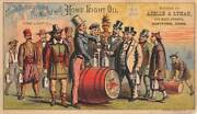 Hartford, Ct, Home Light Oil Adv Trade Card Uncle Sam Image, A And L Agents 1880's