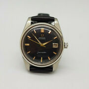 Rare Vintage 1960 Omega Seamaster Black Dial Cal503 Auto Manand039s Watch