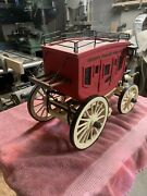 Vintage Old West Wooden Stagecoach Model Hand Made